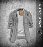 [Vato Loko] Open shirt (M) - Stripes Black