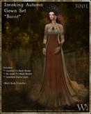 """TWA"" Invoking Autumn Gown Set-Burnt"