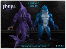 :VM: - Slugger Shark - Leopard Shark (Blue/Purple)