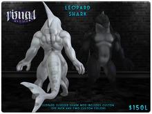 :VM: - Slugger Shark - Leopard Shark (Black/White)