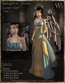 """TWA"" Seraphim Orion Gown Set-Sky"