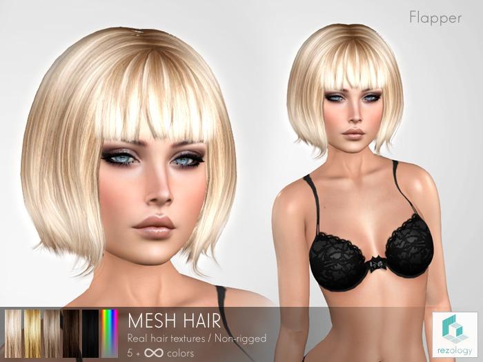 rezology Flapper (mesh hair) Gift - 737 complexity
