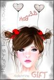 Mag<3.B gift hearts baloon hair bows