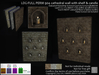 LDG-FULL PERM 904 cathedral wall with shelf & candle /Animated Flame/Drip Texture/11 parts/10 textures/Builderkit