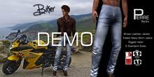 PierreStyles -BIKER -Brown Jacket , Faded Jeans * DEMO - SLINK wearable