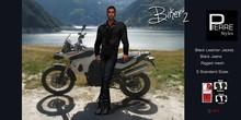PierreStyles -BIKER -BLACK Jacket , Black Jeans