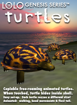 LOLO GENESIS: copyable animated roaming turtles