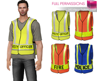Full Perm Classic Rig Mesh Mens Safety Vest