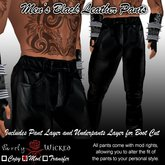 SSC Men's Black Leather Pants