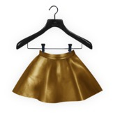Izzaac. Midi Skater Skirt [GOLD]