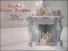 Boudoir Christmas -Candles Corner Fireplace