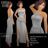 BD-Callea halter gown sequin bustier chiffon mesh silver