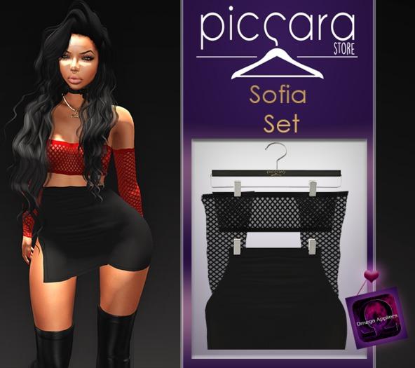 - piccara - :: Sofia Set- Black