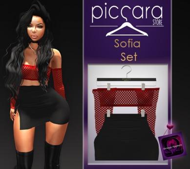 - piccara - :: Sofia Set- Red
