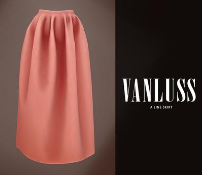 .VANLUSS. A line Skirt peach