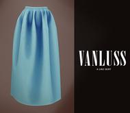.VANLUSS. A line Skirt Cyan