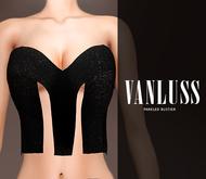.VANLUSS. Paneled Bustier Black