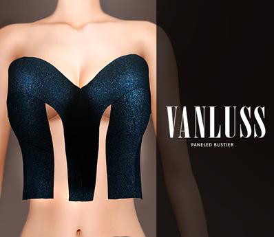 .VANLUSS. Paneled Bustier Blue