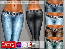 LARRY JEANS - 023b V-Cut - 6 Color Pack (Appliers Included)