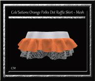 Cele'Sations Polka Dot Ruffle Mini Skirt Orange MESH [ Maitreya Slink TMP Eve Belleza ]