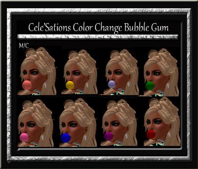 Cele'Sations Color Change Bubble Gum