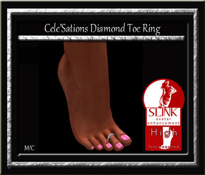Cele'Sations Diamond Toe Ring - Slink High Pk