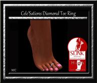 Cele'Sations Diamond Toe Ring - Slink High Pk