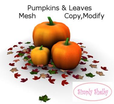 Fall Pumpkin & Leaf Pile