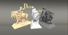 allegorical statue man and lion