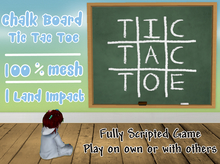 Tic Tac Toe / Noughts & Crosses (Chalk Board)