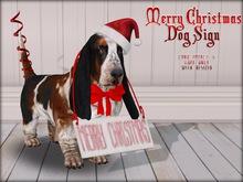 Boudoir Christmas -Christmas Dog Sign