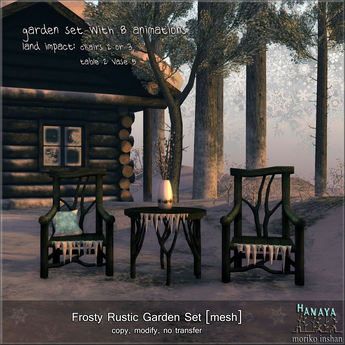 -Hanaya- Frosty Rustic Garden Set [mesh]