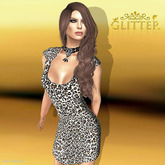 *GLITTER* MELANIE MESH DRESS LEOPARD (GROUP GIFT)