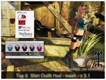 Top &  Skirt Outfit Hud - mesh - v 3.1