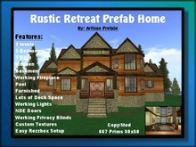 Log Cabin Prefab Home, House