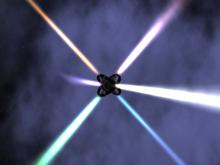Rotating club light - realistic light rays