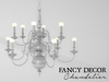 Fancy Decor: Classic Chandelier (white)