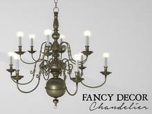 Fancy Decor: Classic Chandelier (gold)