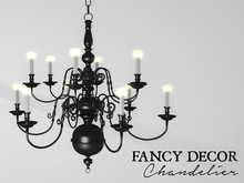 Fancy Decor: Classic Chandelier (black)