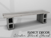 Fancy Decor: Cinder Block Stand (white)