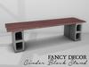 Fancy Decor: Cinder Block Stand (red)