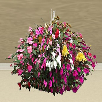 Hanging Basket 6 (only 1 prim!)