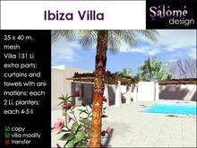 Ibiza Villa - white washed spanish mesh villa with pool animations