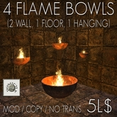 4 flame bowls (boxed)
