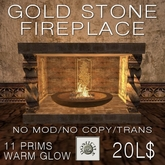 Domicile: Gold Stone Fireplace (boxed)