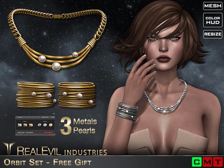 **RE** Orbit Set - Necklace & Bracelets * FREE GIFT! *
