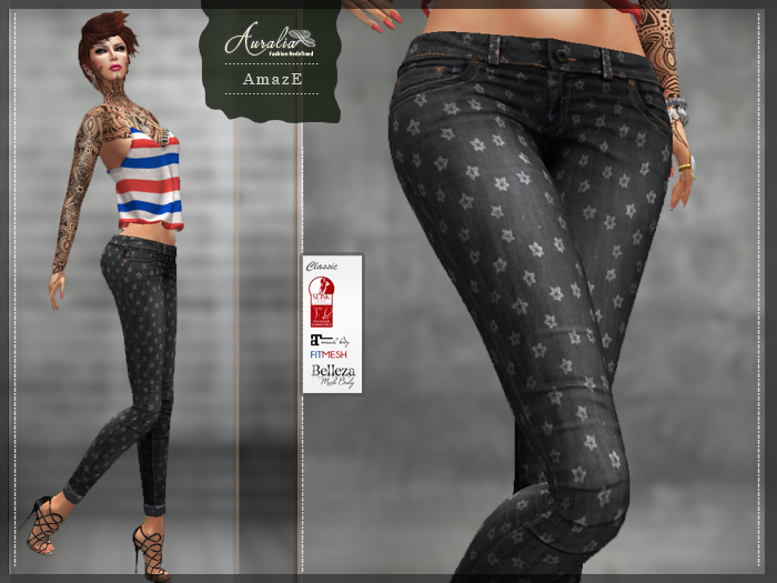 GIFT Amaze Girl Grey Jeans | Slink, Belleza, Maitreya, Classic, and FitMesh