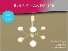 MOCO EMPORIUM - 100% Mesh Contemporary Bulb Chandelier ~ Copy/Mod On/Off Switch Tintable