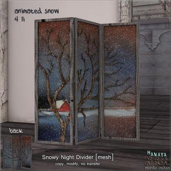 -Hanaya- Snowy Night Divider [mesh]