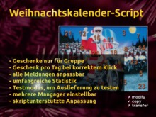 Weihnachtskalender Scripte (nomod,copy,notransfer)